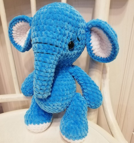 Nertas žaisliukas mėlynas Drambliukas MD